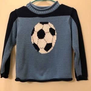 Blue Soccer Sweater size 6